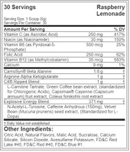 Cellucor C4 Ripped Explosive Pre-Workout 30Svg 180Gm Raspberry Lemonade