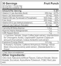 Cellucor C4 Ripped Explosive Pre-Workout 30Svg 180Gm Fruit Punch