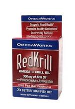 OmegaWorks RedKrill Omega-3 Krill Oil 250 Mg - 60 Soft Gels