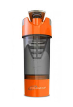 Cyclone Cup Protein Shaker Bottle  with Compartment - Smoked Orange, 22 Oz