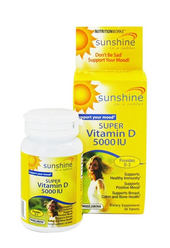 Sunshine Super Vitamin D 5000 IU - 30 Tabs