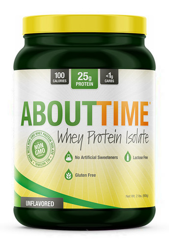 About Time Whey Isolate 2LB Unflavored