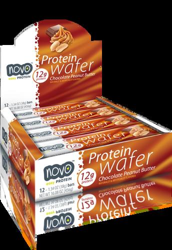 Novo Protein Wafer Bar 38Gm Cho Peanut Butter [ 12 BAR ]
