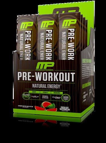 Musclepharm All Natural Pre-Workout Fresh Cut Melon - 12 packs