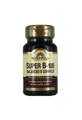 Windmill Super B-100 (Balanced Vitamin B Complex) - 60 Capsules