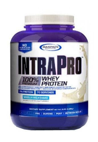 Gaspari Nutrition IntraPro Isolate Whey Protein Powder - Vanilla Milk Shake, 5 Lbs