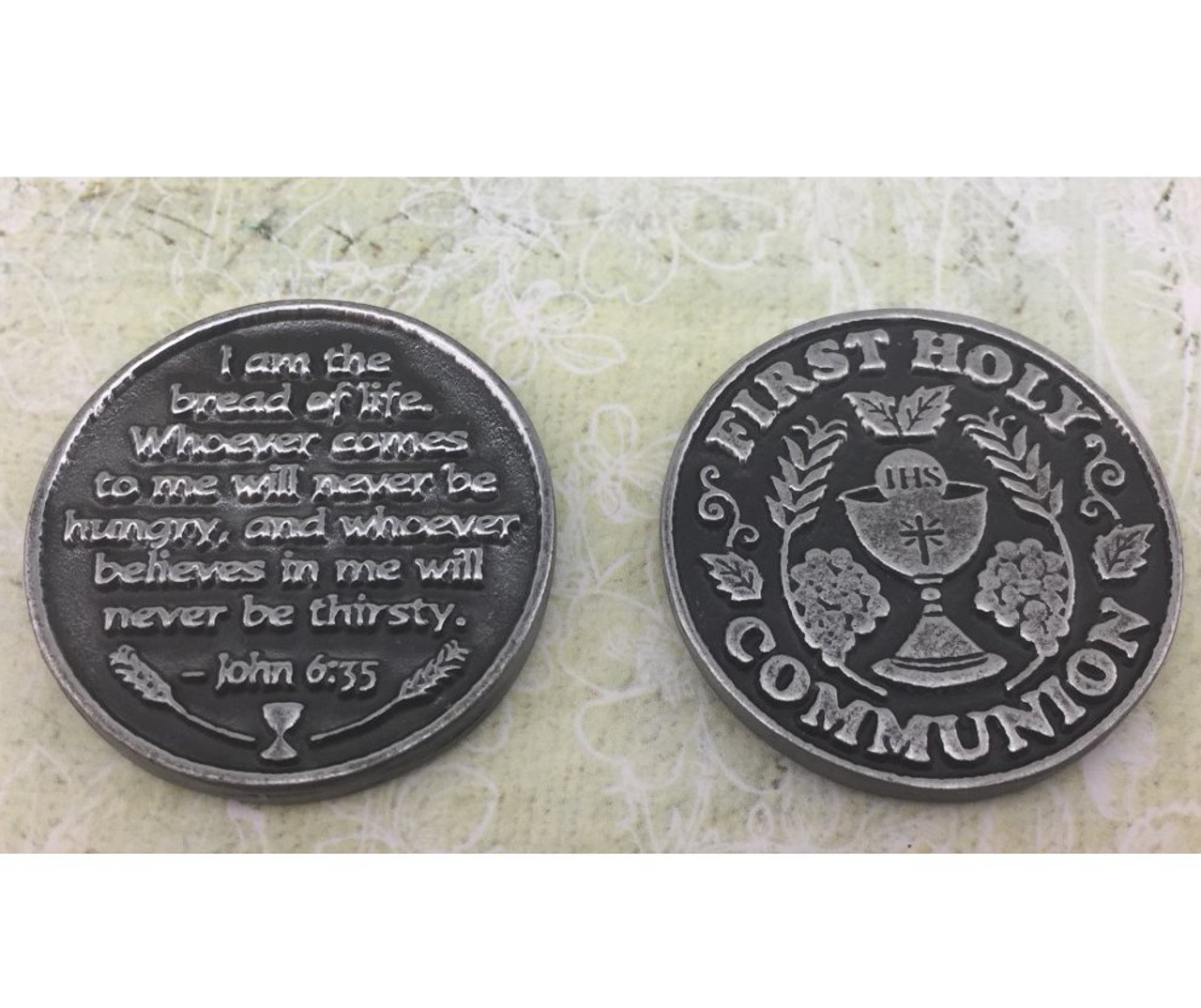 First Communion Pocket Token By Gifted Memories Faith