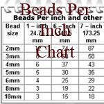 How many beads I need per inch?