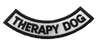"""""""Therapy Dog"""" Rocker Patch - 100% Embroidered Nylon - Sewn In - Service Animal"""