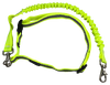 iRun - Runner's Belt With Springy Leash - Fluorescent Safety Yellow - Reflective Strip - Adjustable