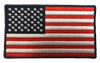 """American Flag Rectangular Patch - 100% Embroidered Nylon - Sewn In - 3.5 """"- Service Animal"""