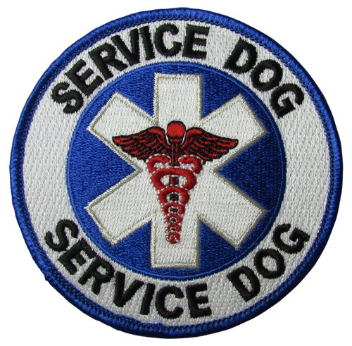 """""""Service Dog"""" Patch - 100% Embroidered Nylon - Sewn In - 3.5"""" - Service Animal"""
