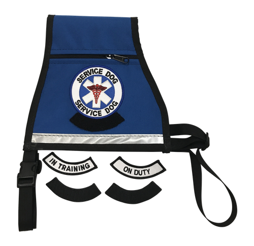 Service Dog Transitional Reflective Dog Vest - Interchangeable Patches - Converts From In Training to On Duty With Velcro Patches - Includes Reflective Strip