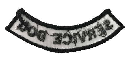 """""""Service Dog"""" Rocker Patch - 100% Embroidered Nylon - Sewn In - Service Animal"""