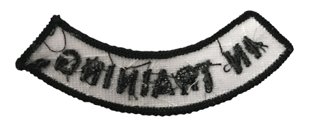 """In Training"" Rocker Patch - 100% Embroidered Nylon - Sewn In - Service Animal"