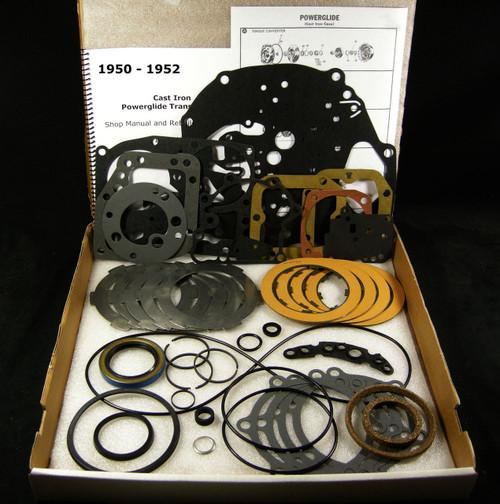 950-52 Cast Iron Powerglide Transmission Rebuild Overhaul Part Kit