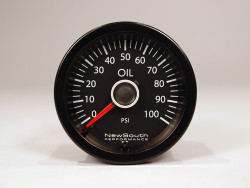 Newsouth Performance 'VW White' Oil Pressure Gauge - GAU015