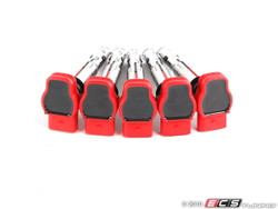 OEM Red Ignition Coil Pack Set for Audi RS3, TTRS (2.5TFSI)