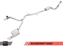 AWE Tuning Audi A4 B9 2.0T Switchpath Exhaust System