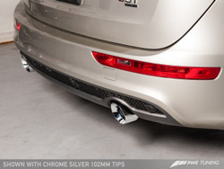 AWE Tuning Audi Q5 3.0T Performance Exhaust System - Chrome Silver Tailpipes