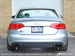 AWE TUNING AUDI B8 S4 TOURING EDITION EXHAUST - Diamond Black 90mm Tailpipes
