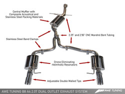 AWE Tuning A4 B8 2.0TFSI Touring Edition Exhaust