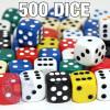 Assorted 16mm round-corner dice - Set of 500