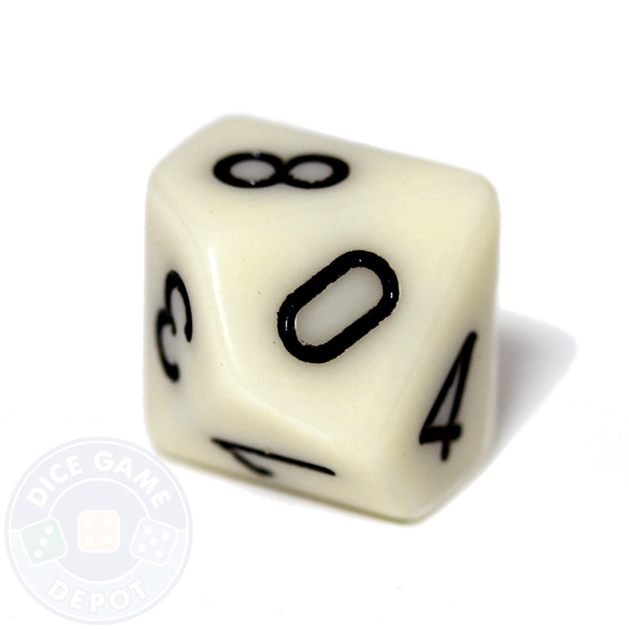10 sided opaque dice d10 ivory dice game depot