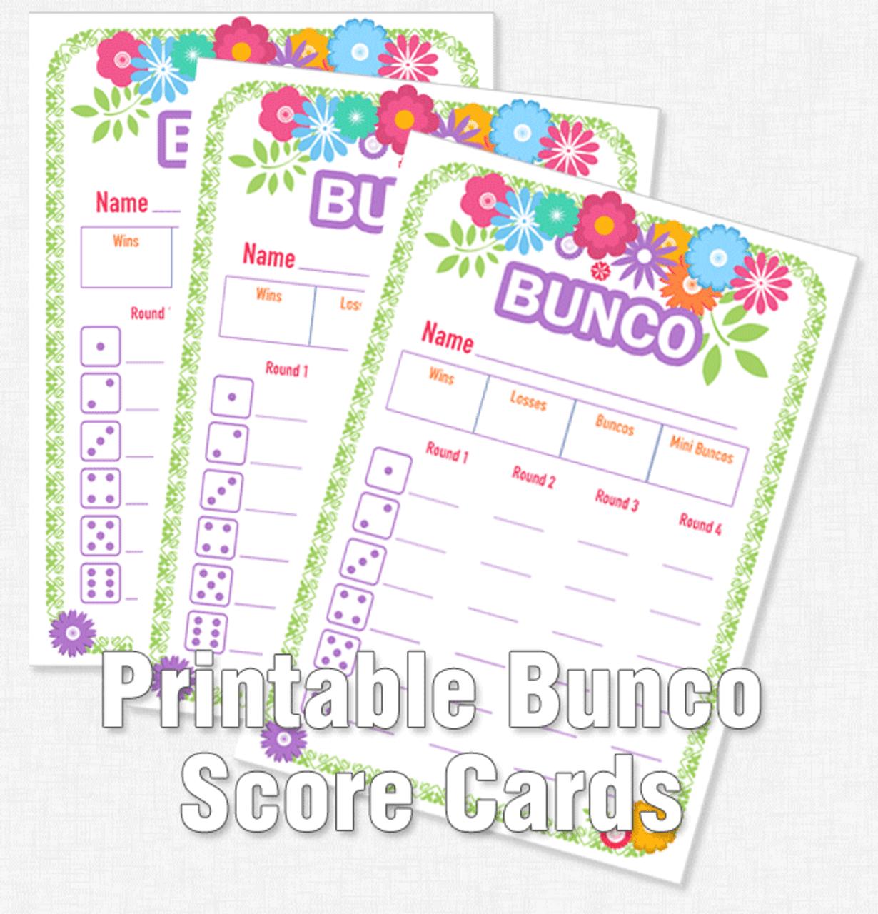 Printable Flower Bunco Score Cards - Dice Game Depot