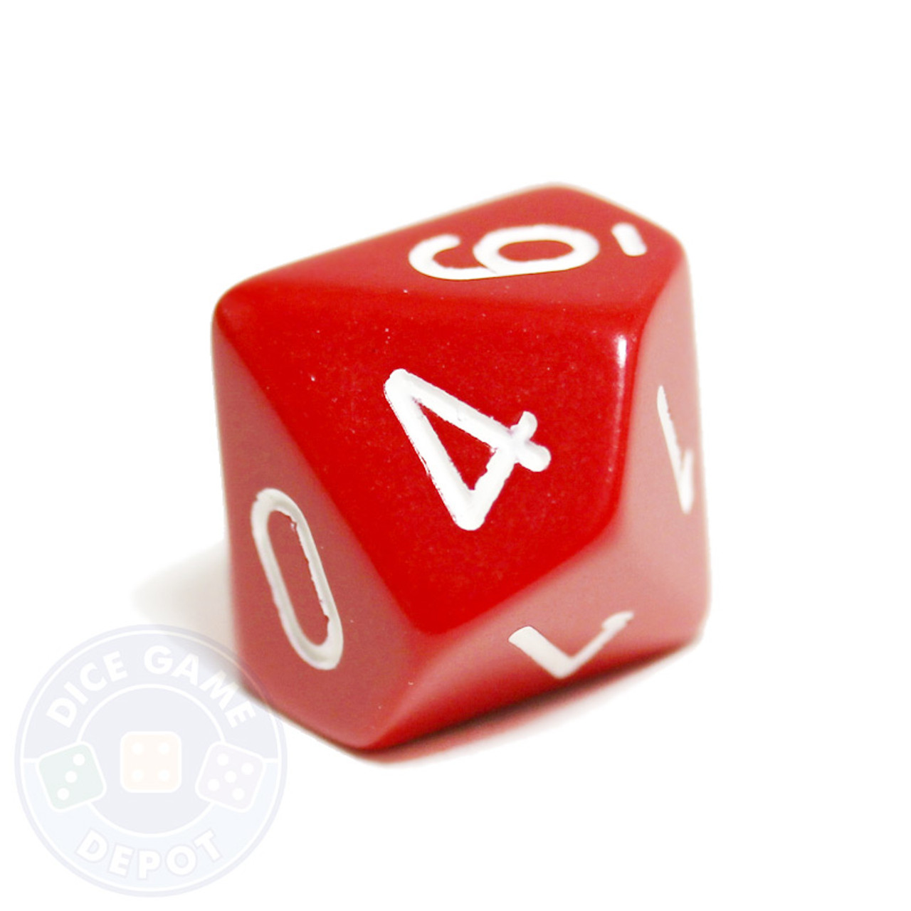 10 sided opaque dice d10 red dice game depot
