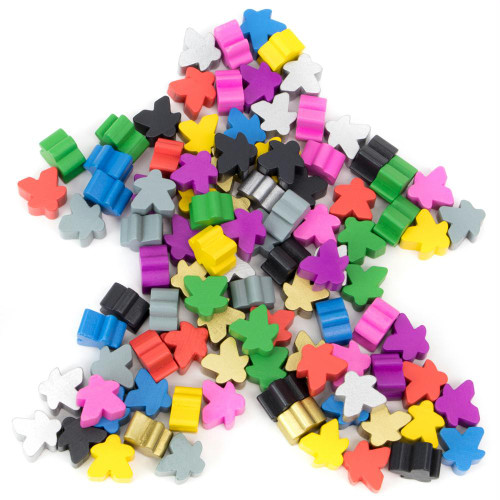 Set of 100 assorted meeples