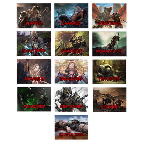 Condition cards for D&D 5th edition