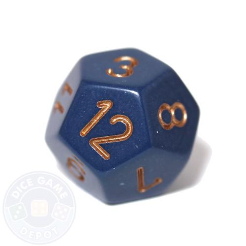 12-sided dice - Dusty Blue