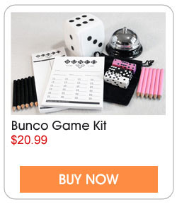 Bunco game kit includes everything you need for up to 12 players