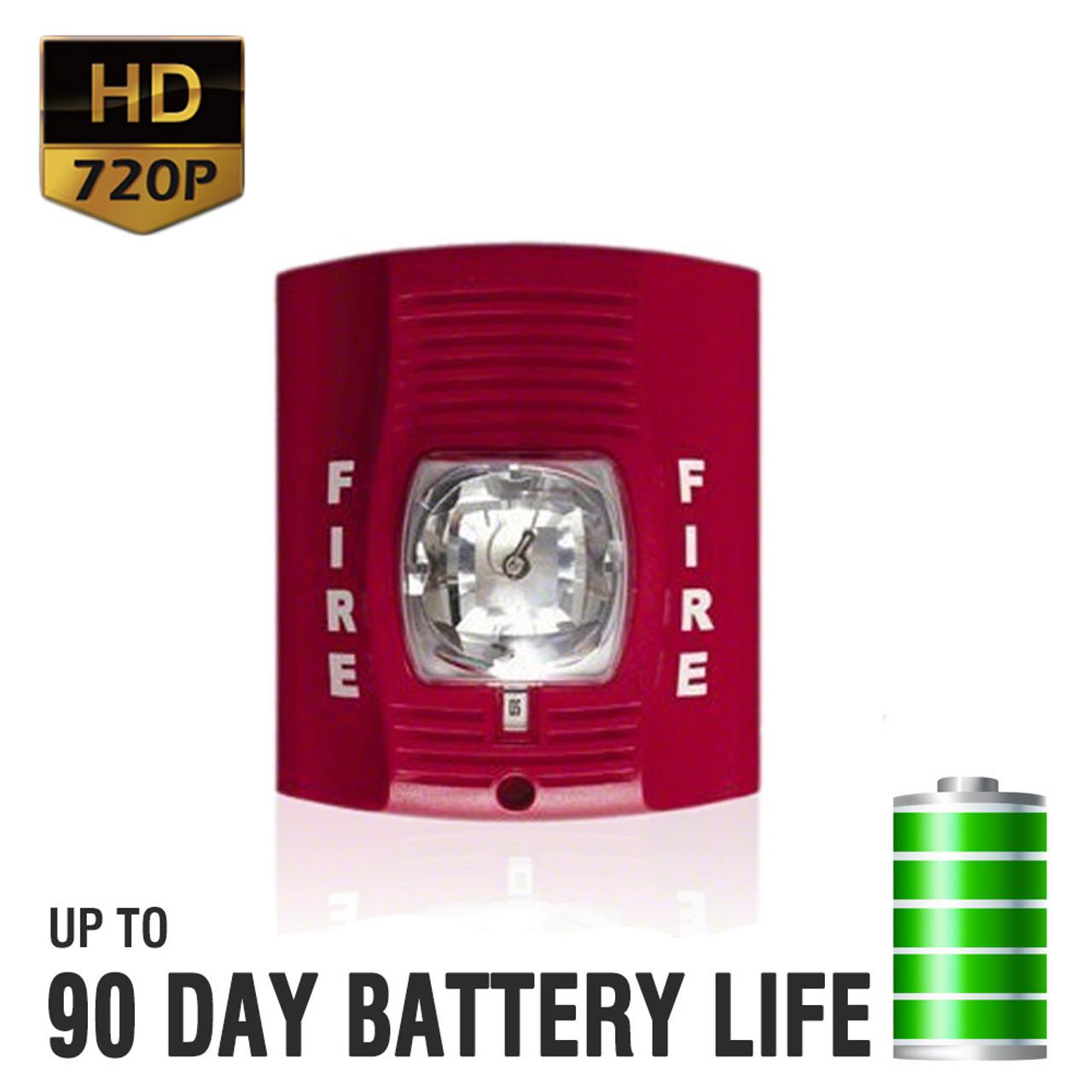 Superb 720P HD Fire Alarm Hidden Camera
