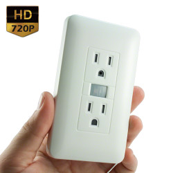 720P HD LawMate Electrical Outlet Hidden Camera