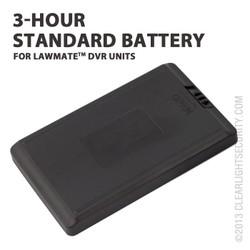 3 Hour Standard Battery for LawMate DVRs