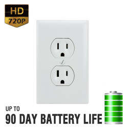 Battery Powered HD Electrical Outlet Hidden Camera