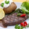 Bison strip steak