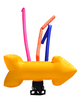 Giant Yellow Arrow air dancer attention grabber. The arrow dances and 3 tubes
