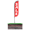 5ft Sale Feather Flag with spike pole system
