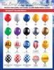17'' Reusable Balloon Window Kit Colors