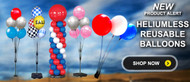 Reusable balloons are great for long duration displays.