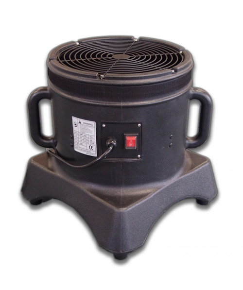 """Air Dancer Blower Comes With:  1  blower Blower Specifications:  Number of Speeds:  1 Blower Horsepower:  1/3hp   Power:  110v/60hz Amps:  5.5 CFM: 2,100 IP Rating:  IP44 All parts needed for operation are included Diameter of blower is 12"""" Compatible with all 12-inch diameter velcro mount dancing man attachments Proprietary design and functionality. The Mini Air Dancer. Approx. Shipping Dims: 15"""" x 15"""" x 15"""" - (22 lbs)"""