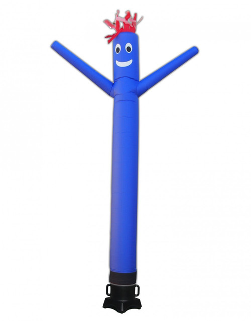 Blue Inflatable Air Dancer 10ft tall attachment.  The all new 10 foot tall and 12 inch diameter air dance is ideal for smaller retail businesses or smaller available space at their retail location. This 10ft tall dancing inflatable advertising product will promote your business or sale like no other product or service can.  Get your business noticed today with the use of inflatable advertising air dancer products.