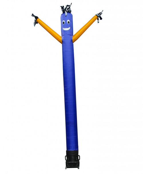 Blue with Yellow Arms Inflatable Air Dancer 10ft tall attachment.  The 10 foot tall and 12 inch diameter air dancer is ideal for smaller retail businesses or smaller available space at their retail location. This 10ft tall dancing inflatable advertising product will promote your business or sale like no other product or service can.  Get your business noticed today with the use of inflatable advertising air dancer products