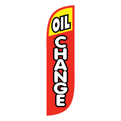 All it takes for clients to come to your business is to remind them that their car needs an oil change.  promotional feather flags are the perfect way to market your businesses' oil changes. These feather flags are 5ft tall and a bright red and yellow color that is sure to grab potential customers' attention. Give the business the marketing it deserves with  Oil Change feather flags.