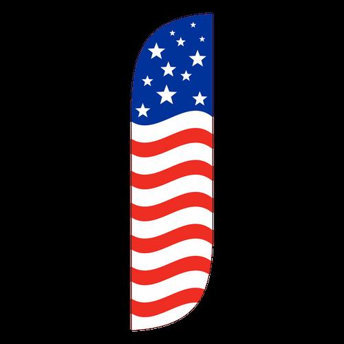 American Flag Feather Flag Old Glory Horizontal