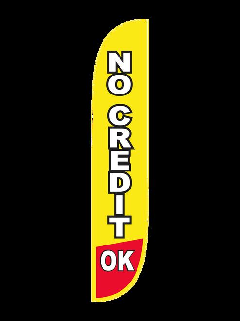 12ft No Credit OK Feather Flag i