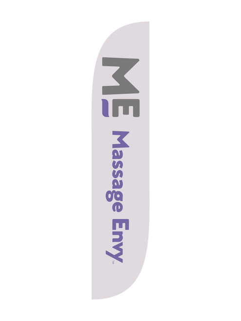 Massage Envy Feather Flag in 12ft size in Grey